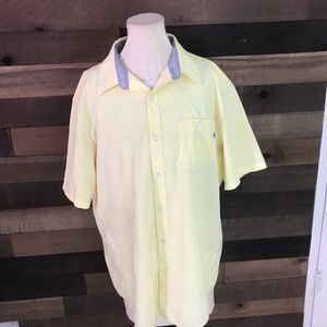 Marmot men's yellow short sleeve button up shirt